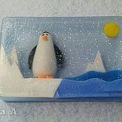 Мыло ручной работы. Ярмарка Мастеров - ручная работа Мыло ручной работы Пингвин на льдине. Handmade.