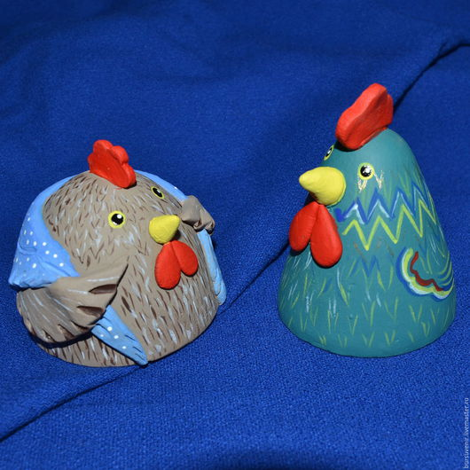 Колокольчики ручной работы. Ярмарка Мастеров - ручная работа. Купить колокольчики - петушок и курочка. Handmade. Комбинированный, подарки на новый год