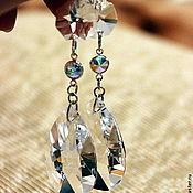"""Украшения ручной работы. Ярмарка Мастеров - ручная работа Серьги """"Слеза"""" хрусталь, кристаллы. Handmade."""