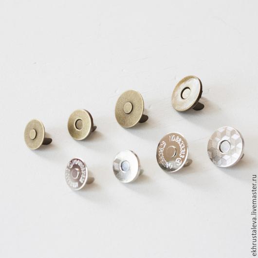 Шитье ручной работы. Ярмарка Мастеров - ручная работа. Купить Тонкая магнитная кнопка, 2 цвета. Handmade. Серебряный