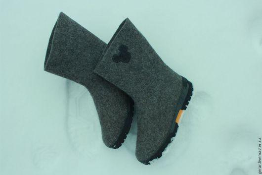 Обувь ручной работы. Ярмарка Мастеров - ручная работа. Купить Сапоги Скороходы. Handmade. Шерсть для валяния, валенки