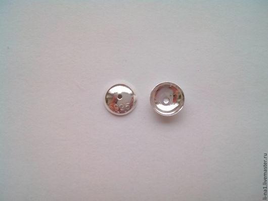 Для украшений ручной работы. Ярмарка Мастеров - ручная работа. Купить Шапочки серебро 7 мм 925 проба. Handmade.