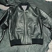 Мужская одежда handmade. Livemaster - original item Men`s outerwear made of crocodile skin, classic bomber!. Handmade.