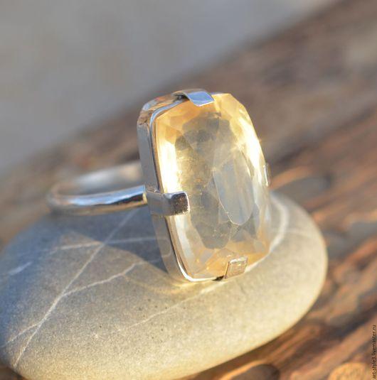Кольца ручной работы. Ярмарка Мастеров - ручная работа. Купить Кольцо с цитрином, серебро. Handmade. Драгоценный камень, серебряное кольцо