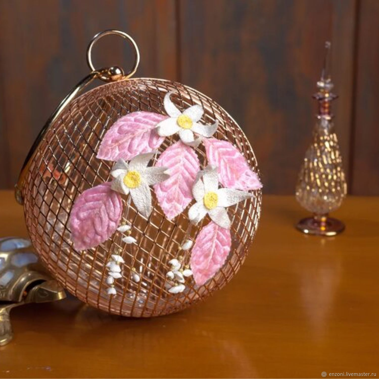 Metal bag with embroidery ' Breath of flowers», Clasp Bag, Moscow,  Фото №1