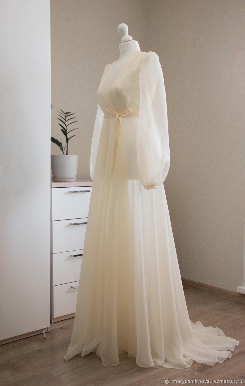 """Будуарное платье """"Воздушная дымка"""" в цвете шампань, Платья, Чебоксары, Фото №1"""