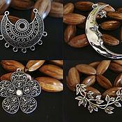 Материалы для творчества handmade. Livemaster - original item Pendants Connectors antique silver Ethnic 4 2. Handmade.