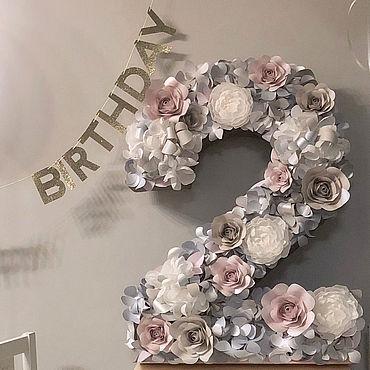 Сувениры и подарки ручной работы. Ярмарка Мастеров - ручная работа Объемная цифра на день рождения. Handmade.