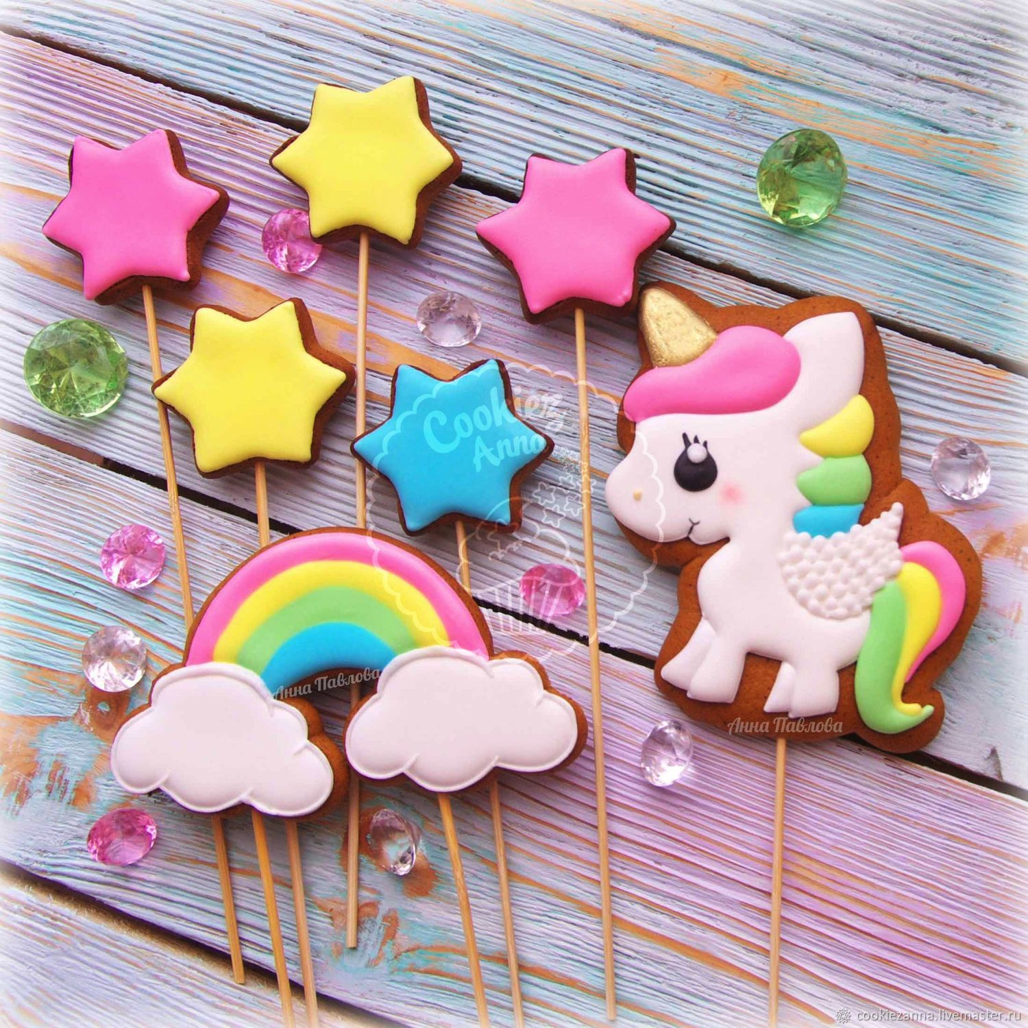 Set of gingerbread cake with Unicorn, Gingerbread Cookies Set, St. Petersburg,  Фото №1
