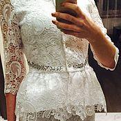 Одежда ручной работы. Ярмарка Мастеров - ручная работа Белый кружевной костюм. Handmade.