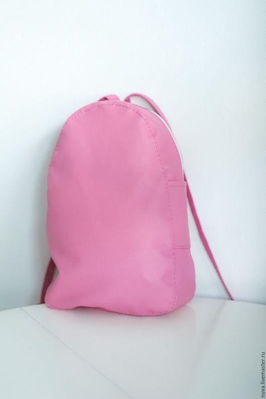 Рюкзаки ручной работы. Ярмарка Мастеров - ручная работа. Купить Розовый рюкзак без карманов. Handmade. Однотонный, подарок девушке