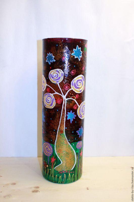 """Вазы ручной работы. Ярмарка Мастеров - ручная работа. Купить Ваза """"Микрокосмос"""". Handmade. Ваза, ваза стекло, стекло"""