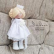 """Тыквоголовка ручной работы. Ярмарка Мастеров - ручная работа Софи. Интерьерная текстильная кукла (""""белая магнолия""""). Handmade."""