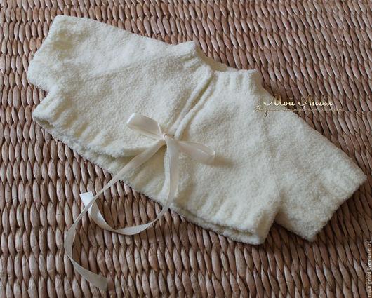 """Одежда для девочек, ручной работы. Ярмарка Мастеров - ручная работа. Купить Авторское болеро """"Мой Ангел"""". Handmade. Молочный цвет"""
