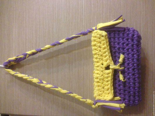 Женские сумки ручной работы. Ярмарка Мастеров - ручная работа. Купить Сумка вязаная из трикотажной пряжи. Handmade. Комбинированный, сумка