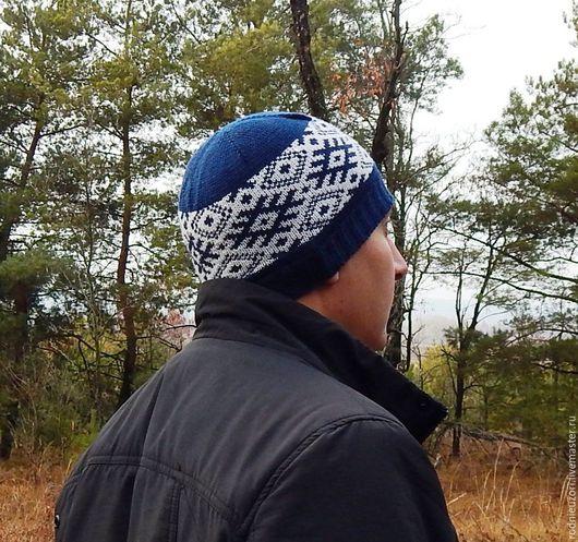 Шапки ручной работы. Ярмарка Мастеров - ручная работа. Купить шапка вязаная с обережным орнаментом славянским. Handmade. Белый