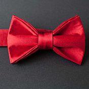 Аксессуары ручной работы. Ярмарка Мастеров - ручная работа Галстук-бабочка Red Rose (шёлк). Handmade.