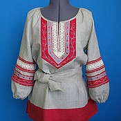 Blouses manualidades. Livemaster - hecho a mano Blouse in Russian style Etoros. Handmade.