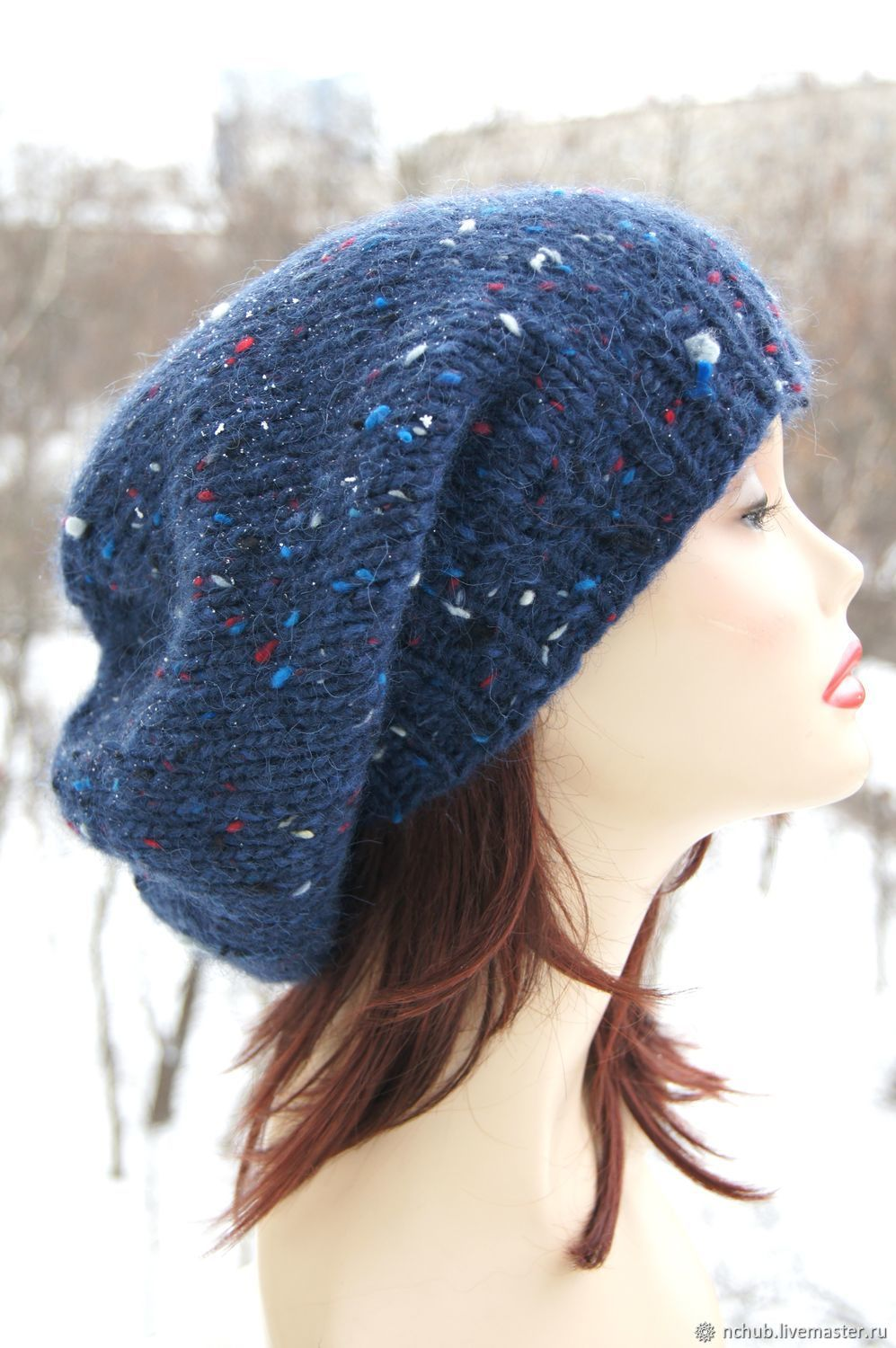 a26dfcb2b2860 Berets handmade. Livemaster - handmade. Buy Takes Blue volume knitted from  Icelandic wool 100 ...
