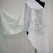 Wraps handmade. Livemaster - original item Stole Frosty patterns felted. Handmade.