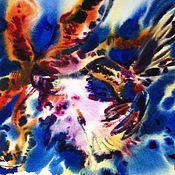 Картины и панно ручной работы. Ярмарка Мастеров - ручная работа Акварель Орхидея И Колибри. Handmade.
