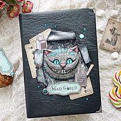 Канцелярские товары handmade. Livemaster - original item Notepad with the Cheshire cat. Handmade.