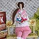 Куклы Тильды ручной работы. Ярмарка Мастеров - ручная работа. Купить Тильда  акушерка текстильная, интерьерная. Тильда врач.. Handmade.