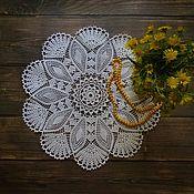 Для дома и интерьера handmade. Livemaster - original item Decorative napkins: Napkin round No. №13. Handmade.