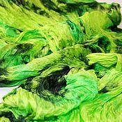 Wraps handmade. Livemaster - original item Silk scarf stole green hand dyeing batik gift scarf boho. Handmade.