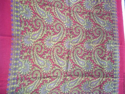 Винтажная одежда и аксессуары. Ярмарка Мастеров - ручная работа. Купить Платок винтажный из шерсти. Handmade. Комбинированный, теплый