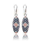 Украшения handmade. Livemaster - original item Royal blue long earrings gifts for beloved