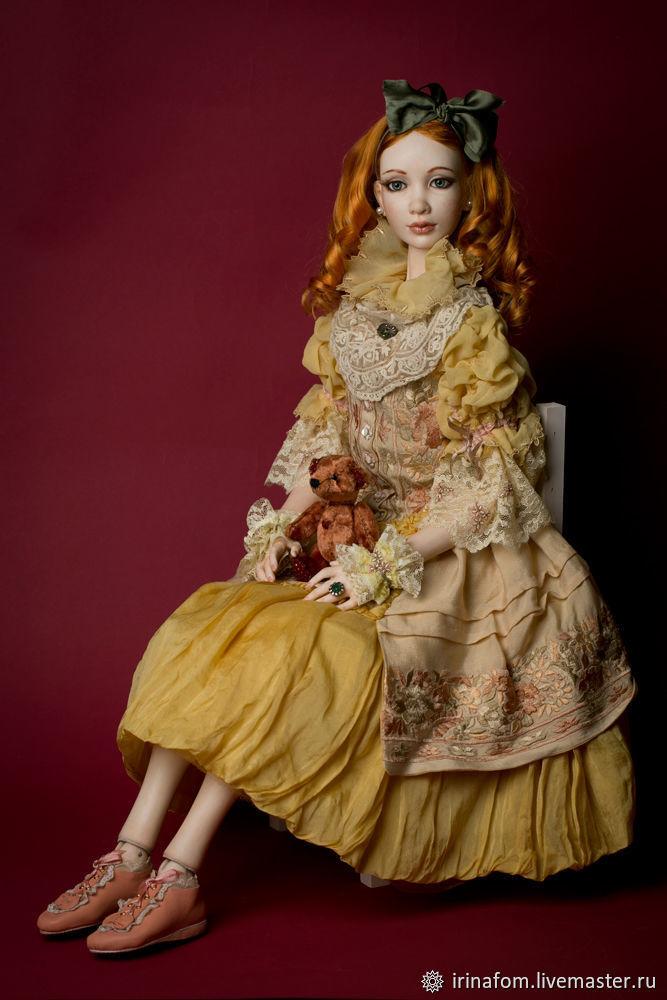 Шарнирная фарфоровая Большая Кукла 73 см, Шарнирная кукла, Санкт-Петербург,  Фото №1