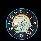 Для дома и интерьера handmade. Livemaster - original item Wall clock,Minty taste, watch decoupage. Handmade.