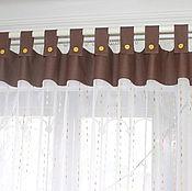 Для дома и интерьера ручной работы. Ярмарка Мастеров - ручная работа Шоколадный дождь   Шторы на петлях. Handmade.