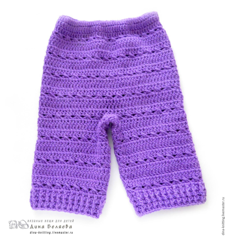 Описание вязания штанишек для детей до 3 лет