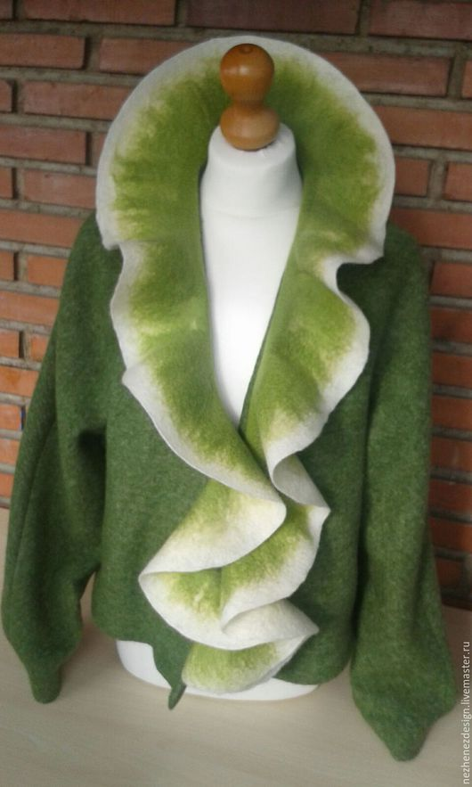 Пиджаки, жакеты ручной работы. Ярмарка Мастеров - ручная работа. Купить Жакет, полупальто, пальто Кедр. Handmade. Тёмно-зелёный
