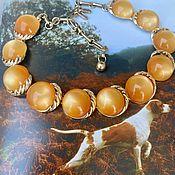 Винтаж handmade. Livemaster - original item carrot seeds. Catchy necklace by Coro Pegasus.. Handmade.