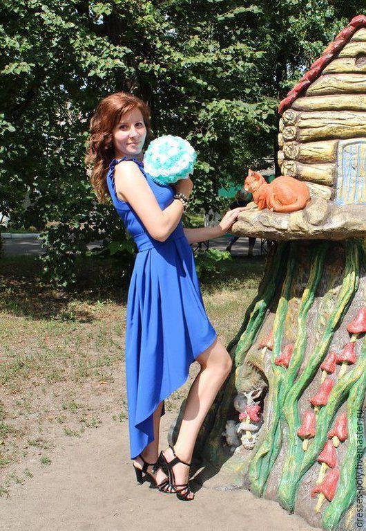 Платья ручной работы. Ярмарка Мастеров - ручная работа. Купить Платье подружки невесты. Handmade. Тёмно-синий, платье