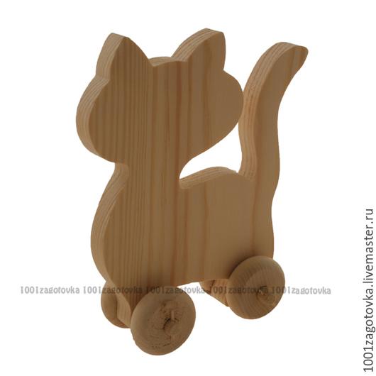 """Декупаж и роспись ручной работы. Ярмарка Мастеров - ручная работа. Купить Заготовка деревянной игрушки """"Кошка"""" для росписи. Handmade."""
