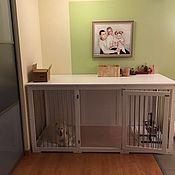 Для домашних животных, ручной работы. Ярмарка Мастеров - ручная работа Большая деревянная клетка-тумба для собаки в квартиру. Handmade.