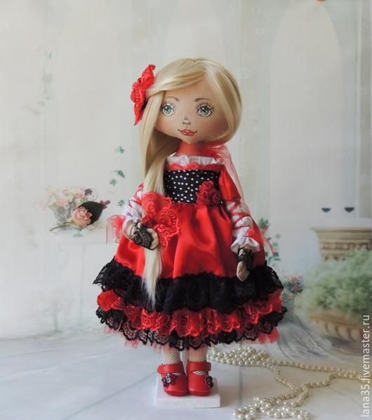 Коллекционные куклы ручной работы. Ярмарка Мастеров - ручная работа. Купить Кармен. Handmade. Разноцветный, Танцовщица, атлас