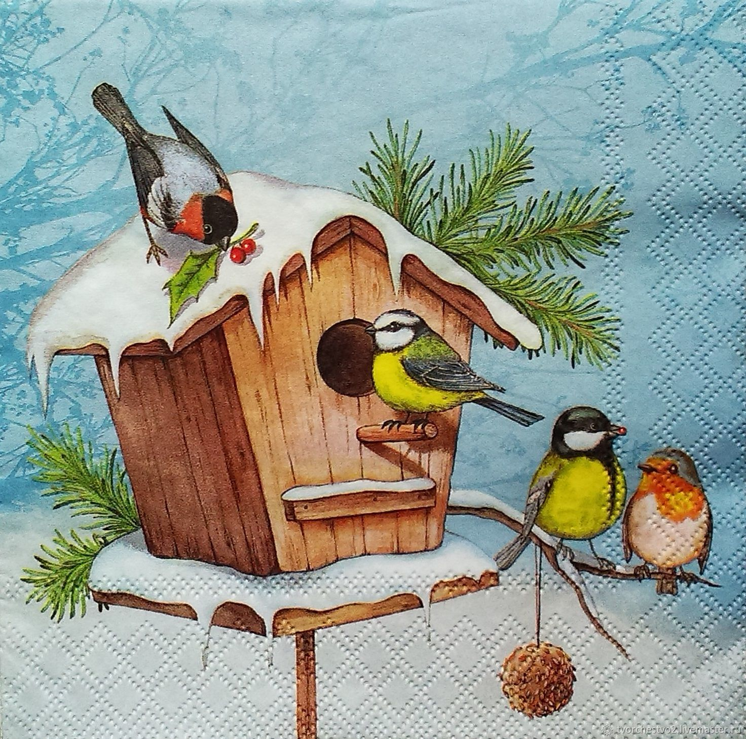 Птицы на кормушках картинки и рисунки