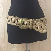 Аксессуары handmade. Livemaster - original item Belt made of jute. fishnet.. Handmade.