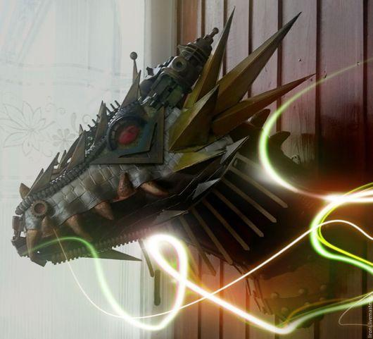 """Фэнтези ручной работы. Ярмарка Мастеров - ручная работа. Купить Арт-объект """"Боевой дракон"""". Handmade. Комбинированный, интерьерное украшение"""