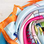 Аксессуары handmade. Livemaster - original item Silk handkerchief from Hermes