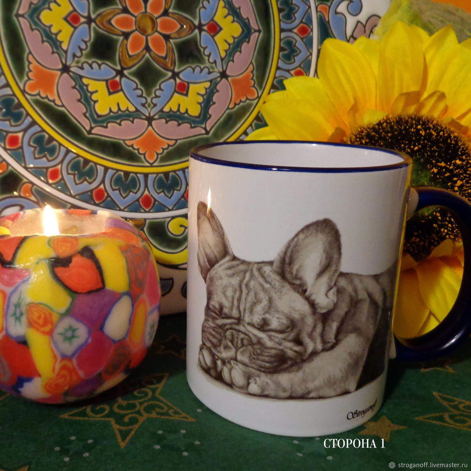 Author mug 'Bulldog', Mugs and cups, Moscow,  Фото №1
