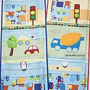 Для дома и интерьера ручной работы. Ярмарка Мастеров - ручная работа Кармашки в детский сад для мальчика Автомобильные. Handmade.