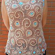 Одежда ручной работы. Ярмарка Мастеров - ручная работа блузка Шербет. Handmade.