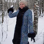 """Одежда ручной работы. Ярмарка Мастеров - ручная работа Зимнее пальто """"Северное сияние"""".. Handmade."""