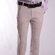 Мужская одежда handmade. Livemaster - original item Trousers made of linen. Handmade.